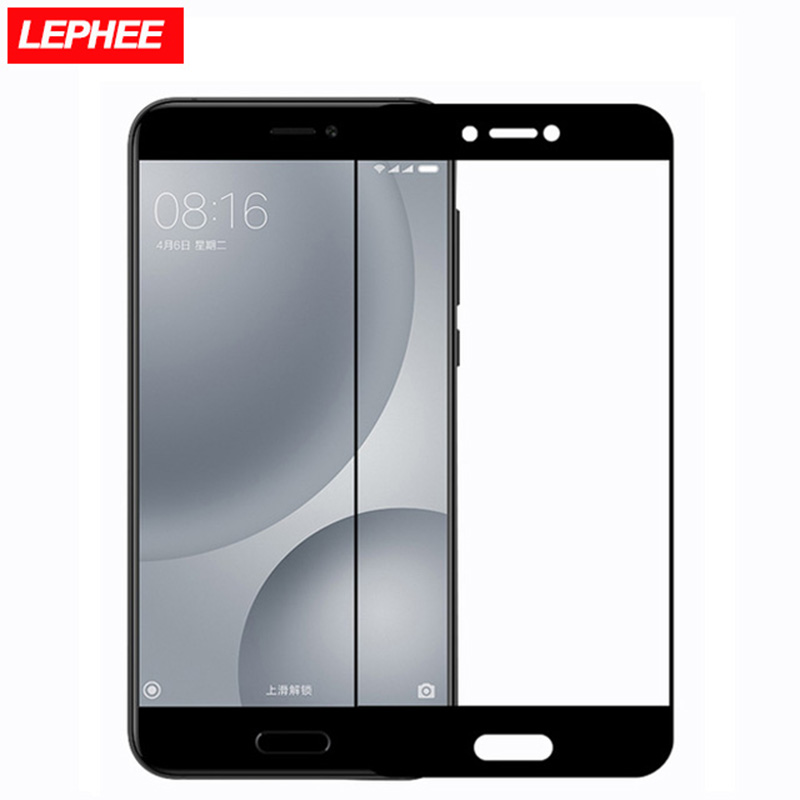 lephee xiaomi mi5c tempered glass film mi 5c full cover screen protector xiomi for m5c m 5c explosion in protectors from