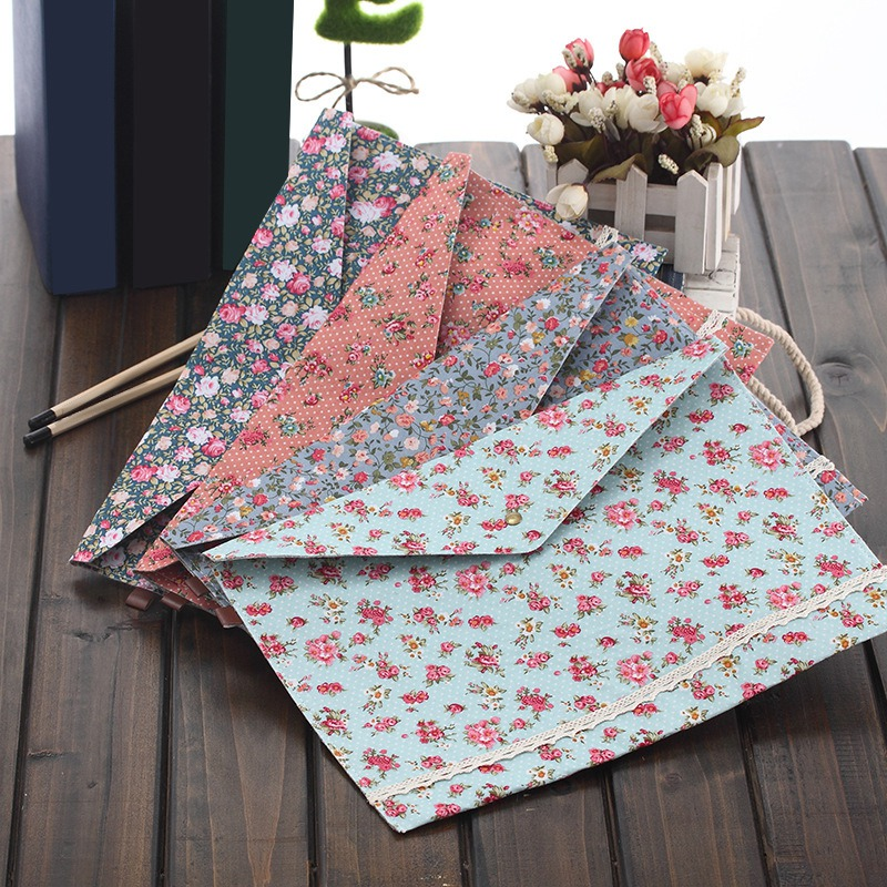 1 Pcs A4 Cloth Paper Holder School File Folder Bag Korean Stationery Office Supplies