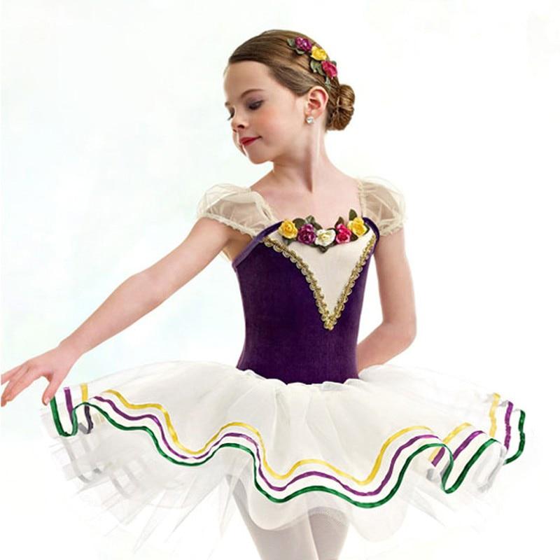 Ballet Tutu for Girls Children Short Sleeve Leotard Skirt Kids Training Dance Dress Toddler Dancewear Adult Ballet Dresses