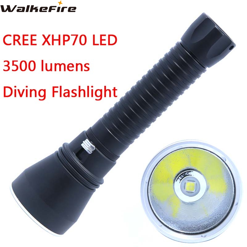 CREE XHP70 Flashlight Torch LED 3500 lumens Professional Diving 100M Aluminum light cup Power Promise dimming Outdoor light 3800 lumens cree xm l t6 5 modes led tactical flashlight torch waterproof lamp torch hunting flash light lantern for camping z93