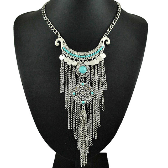 Unique Aliexpress.com : Buy SHUANGR Vintage Thai Silver Tassel Necklace  NU23
