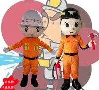 Fireman Mascot Costume Fancy Dress Cosplay Theme Mascotte Cartoon Character Mascot Adult Size New Arrival Free Shipping