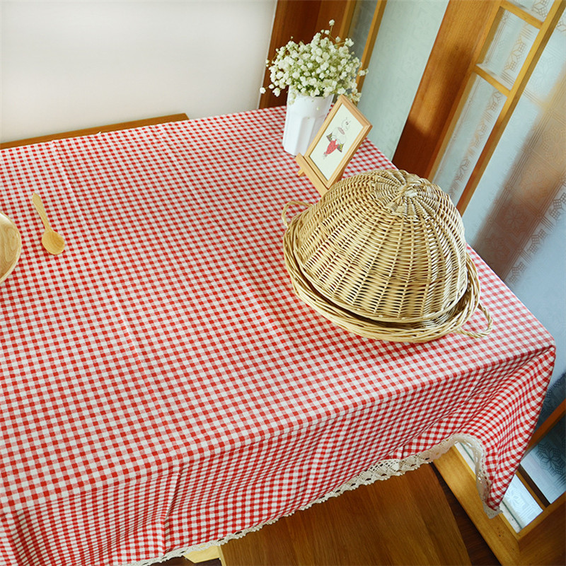 Hot Sale Round Tablecloth For Dining Table Cloth Lace Edge Kitchen Coffee  Table Covers Home Textile Wedding Party Decoration T44