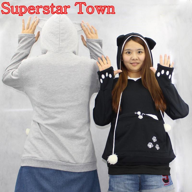 Cat lovers bluzy z cuddle etui dog pet bluzy dla kangura dorywczo swetry z uszy bluza 4xl drop shipping 15