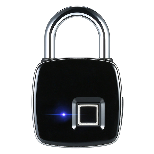 Fingerprint Padlock Biometric Thumbprint Smart Rechargeable Door Luggage Lock