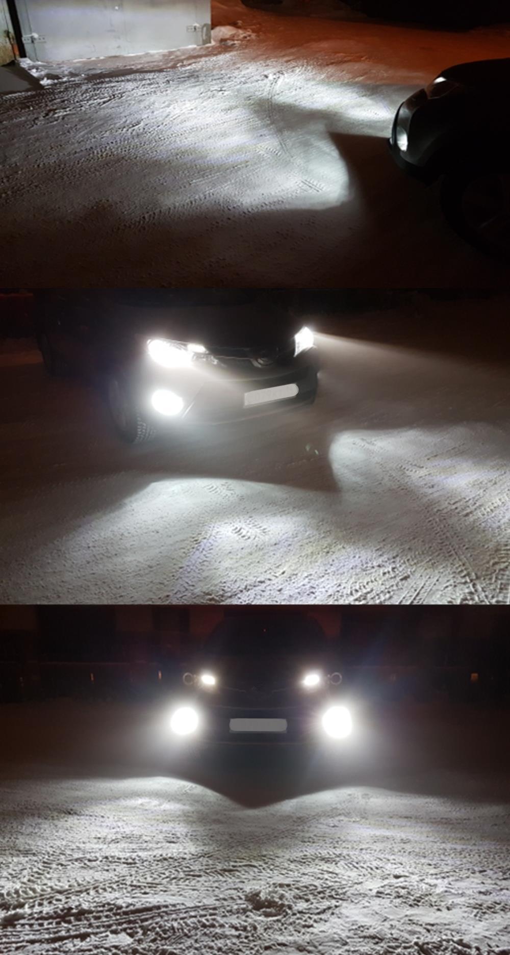 nevoeiro carro drl luz do dia kit