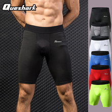 Queshark Professional Men Compression Shorts Sport Running Shorts Quick Dry Training Crossfit Fitness Gym Tennis Tight Pants