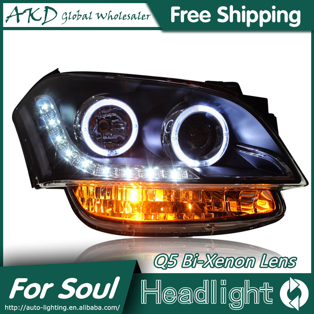 akd car styling for kia soul headlights 2010 2013 soul led. Black Bedroom Furniture Sets. Home Design Ideas