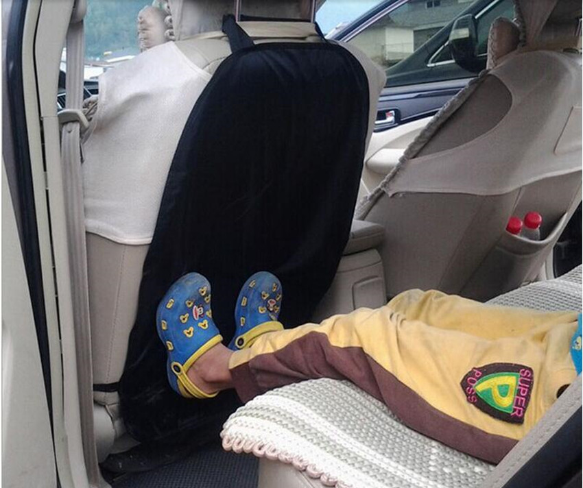 Black Car Auto Care Seat Back Protector Cover For Children Kick Mat Mud Clean