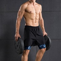 Men Sport Wear Shorts Summer Two Layers Skin Compression Quick Drying Breathable Basketball Outdoor Workout Sport Shorts For Man