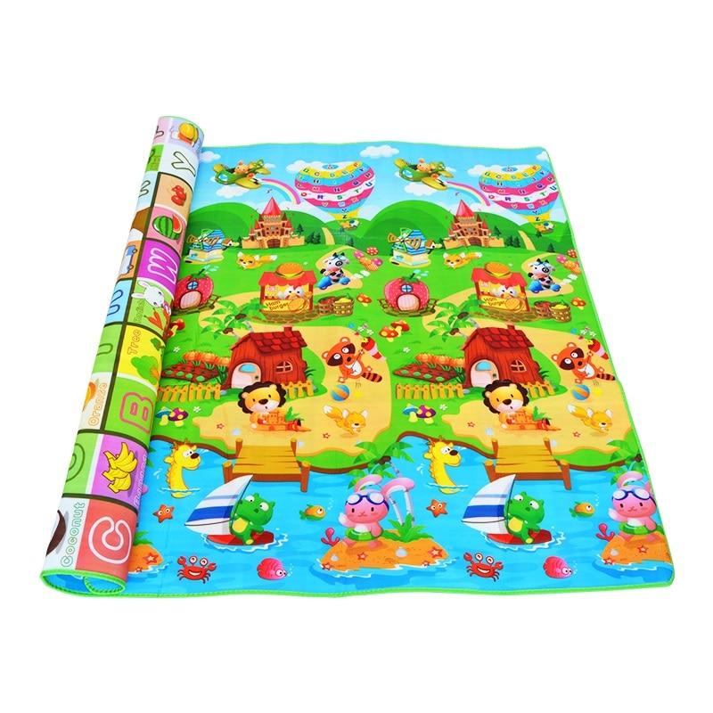 HTB1okaVlGQoBKNjSZJnq6yw9VXam 0.5cm Thickness Children's Rug Baby Playing Mats Soft EVA Foam Double Side Patterns Child Carpets For Kids Crawling Gym Mats