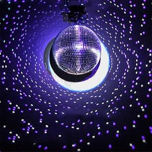 Image 2 - Thrisdar Dia15CM 20CM 25CM reflectante de vidrio Bola de espejo para discoteca con rotación Motor Disco DJ KTV bares fiesta en casa de luz de la etapa