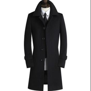 Black grey khaki winter warm wool coat men coat veste homme overcoat men trench coat youth fashion brand plus size M – 8XL 9XL