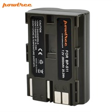 Powtree For Canon 7.2V 2800mAh BP 511 BP-511 BP511 BP511A BP-511A 511A Camera Battery Replacement EOS 300D 5D 10D 20D 30D 40D
