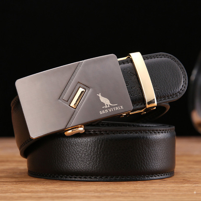 2017 men's fashion Luxury brand belt for male genuine leather Belts for man designer  high quality belt cowskin free shipping