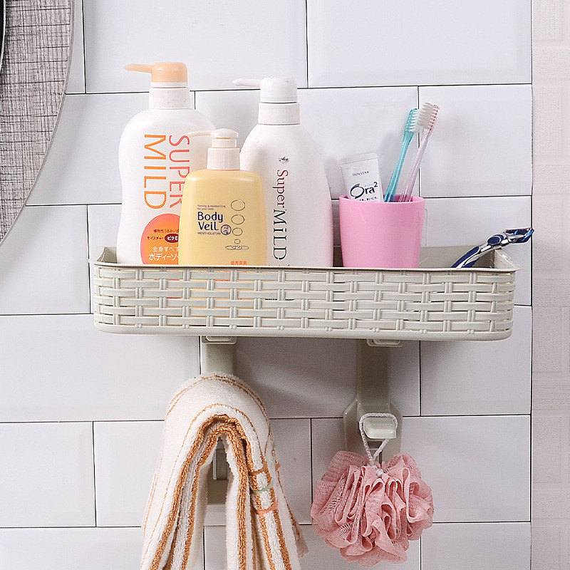 Best Deals Double layer Rattan Nail free Storage Rack Toilet Cover ...