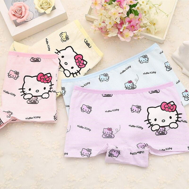 Girls Cute Boxer Cotton Shorts 2-9 Years Baby Panties Cartoon Kids Underwear Pants Children's Briefs  1 Piece