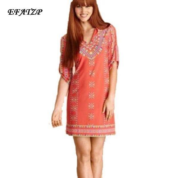 New 2015 Designer Brand Dress Women s Stand Collar Sweet Printed Stretch Jersey Silk Half sleeves