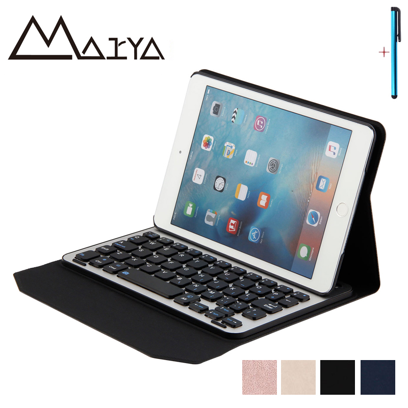 For iPad Air 1 2 Case Tablet Removable Wireless Bluetooth Aluminum Keyboard With PU Leather Protective Shell For iPad 5 6 9.7in awo sp lamp 037 replacement projector lamp with housing for infocus x15 x20 x21 x6 x7 x9 x9c