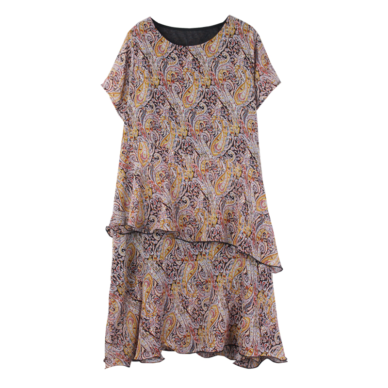 summer beach chiffon dresses for woman plus size 2019 women loose party ruffles casual oversized dress office lady dresses 4xl in Dresses from Women 39 s Clothing