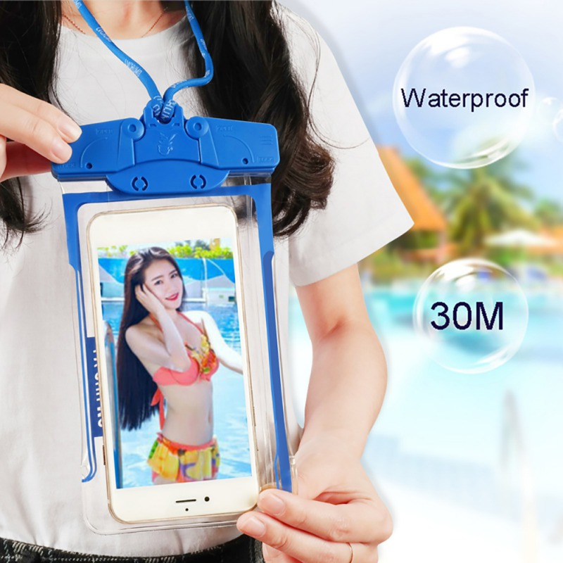 Mobile Phone Waterproof Bag Underwater Photo Drifting Swimming Outdoor Sports Touch Screen Sealed Pouch With Lanyard