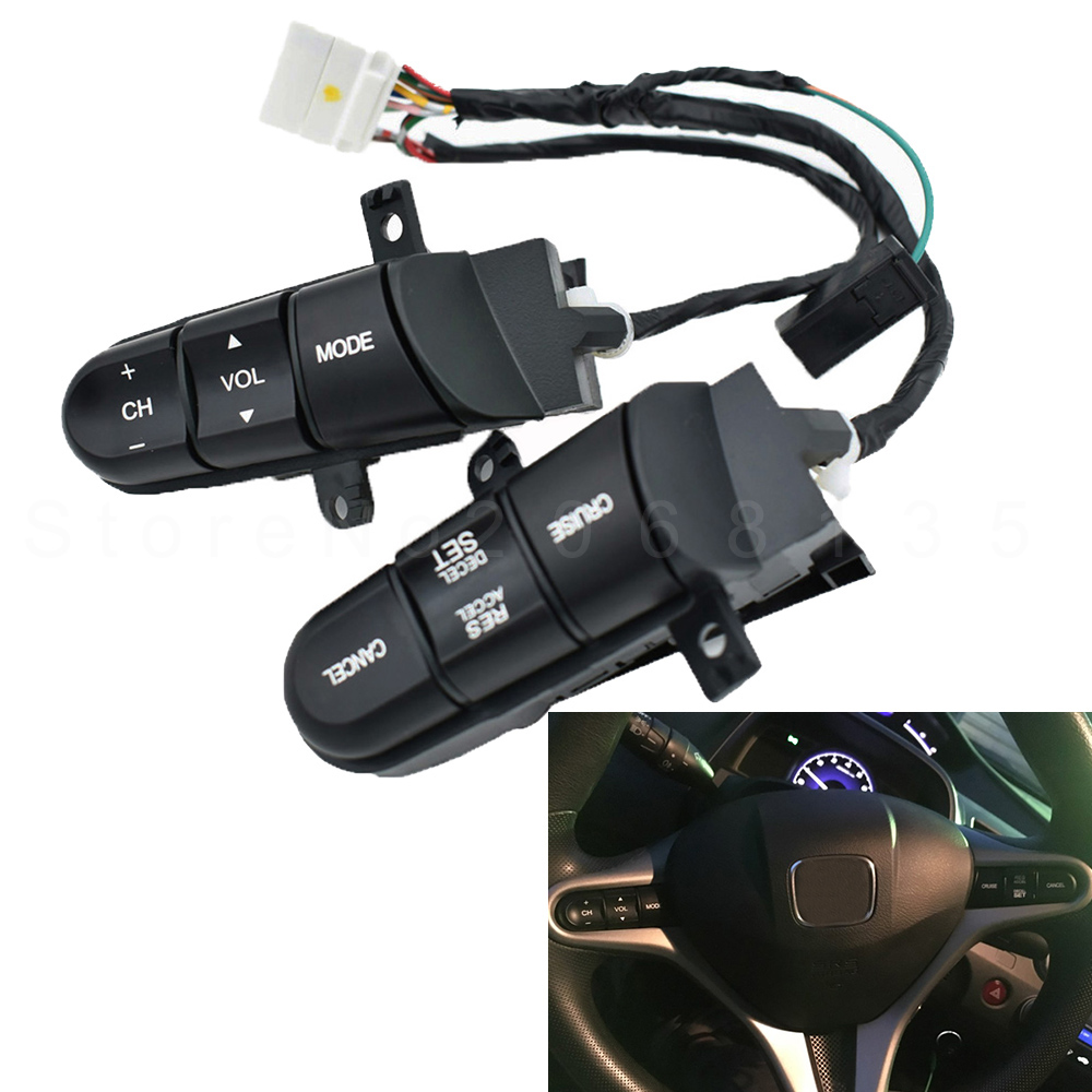 Honda A12 Service >> NEW Steering Wheel Audio Control Switch 36770 SNA A12 36770SNAA12 Cruise Switch For Honda Civic ...