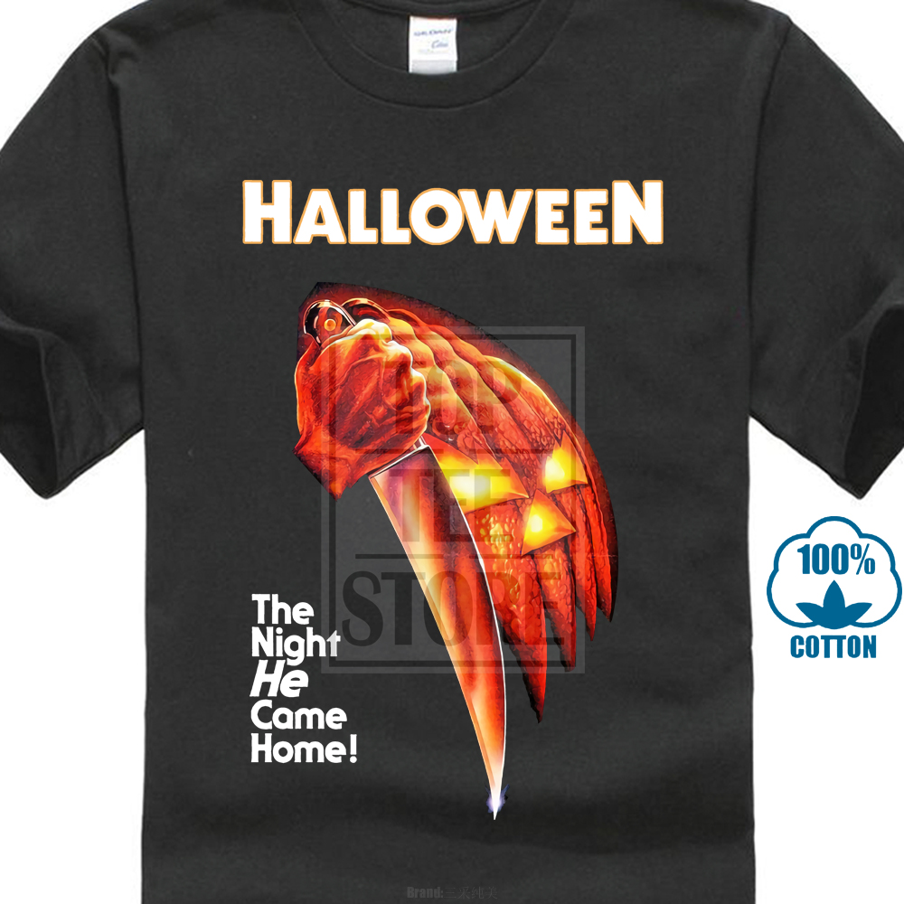 2018 Fashion Brand Halloween Movie Poster T Shirt New Officially Licensed Michael Myers  ...