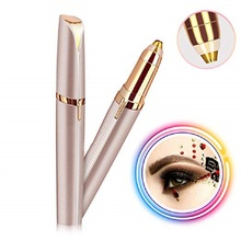 Battery Gold Instant Painless Electric Eyebrow Trimmer Women Shaver