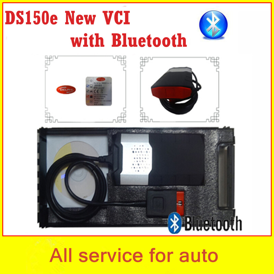 DS150 Bluetooth!! 2014.R3 ds150e +plastic box LED OBD CONNECTOR NEW TCS scanner cdp pro plus ds150 new vci cars trucks 3in1 - welcome to freyr's store