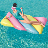 1.9M* 1.05M Summer Pool Float Ring Inflatable Swimming Circles Drink Float Water Fun Party Accessories Starfish Pool Toy Chair