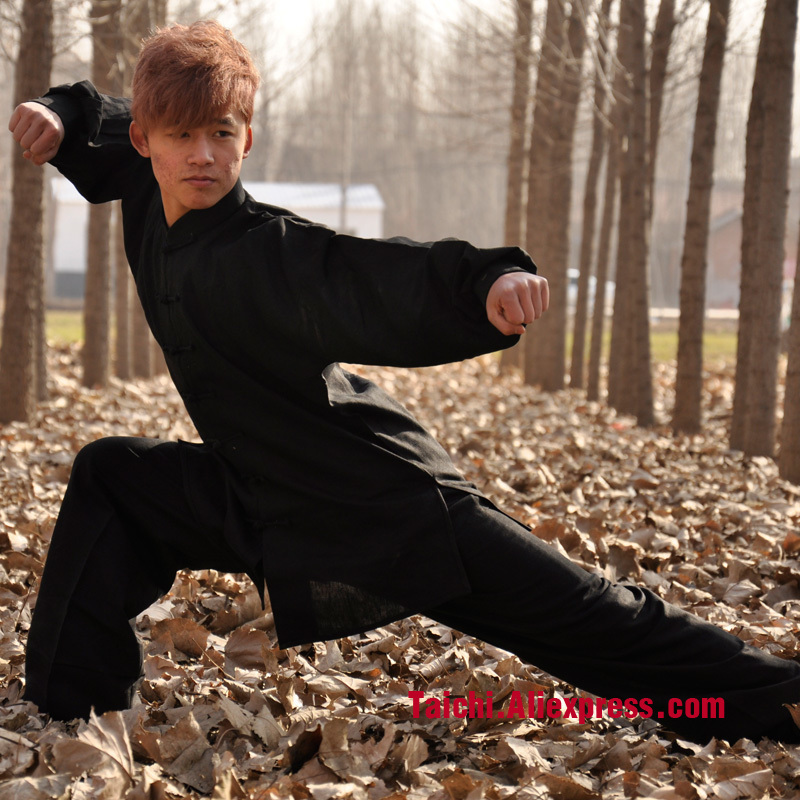 Gu Tang - Black Linen Clothes And Tai Chi Clothing And Clothing Gu Pufeng Wushu Taijiquan