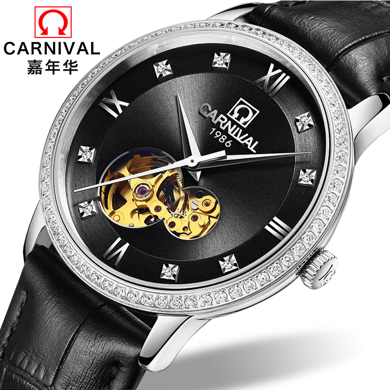 Carnival Watch Men Japan MIYOTA 8N24 Automatic Mechanical Brand Luxury Men Watches Sapphire reloj hombre Diamond Clock C5676-3 wrist switzerland automatic mechanical men watch waterproof mens watches top brand luxury sapphire military reloj hombre b6036