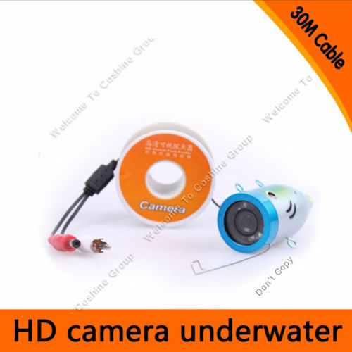 Free Shipping!30M Waterproof Underwater ICE fishing Camera 1000TVL Fish Finder Part with 12pcs Led lights 1000mg 100 pcs fish oil bottle for health capsules omega 3 dha epa with free shipping