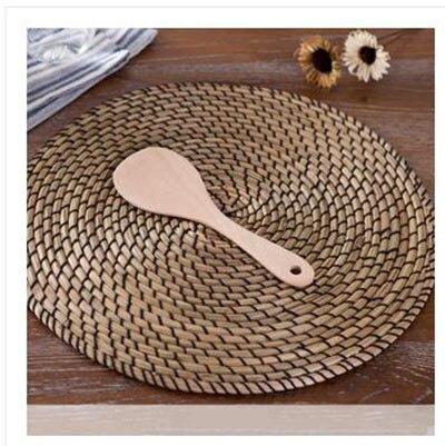 2 шт. набор посуды деревянный обжаривают шпателем антипригарной приготовления ложка древесины бамбука Райс Paddle Scoop ручной работы приборы кухонные инструменты