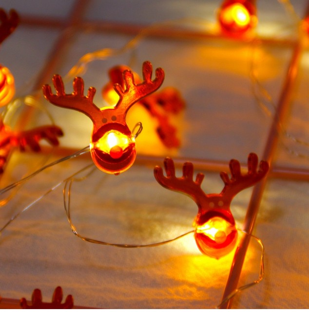QIFU Snowman Elk Garland Holiday Light String Merry Christmas Decor for Home Christmas 2019 Ornament Navidad Natal New Year 2020 18