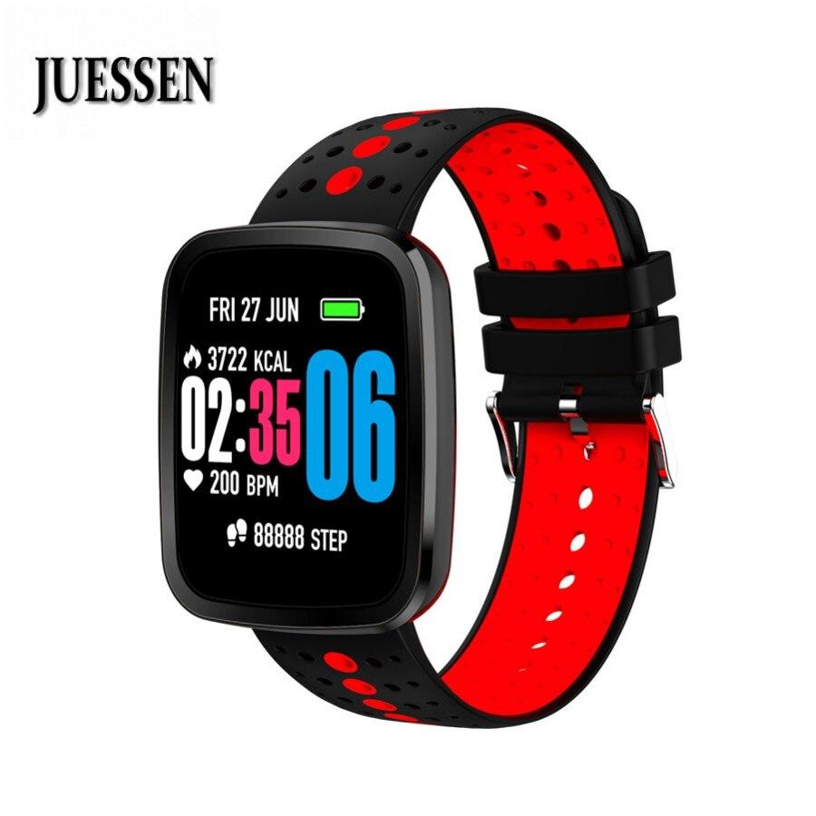 JUESSEN V6S pulsera inteligente impermeable de la presión arterial inteligente al aire libre modo Fitness Tracker recordatorio Dispositivo portátil