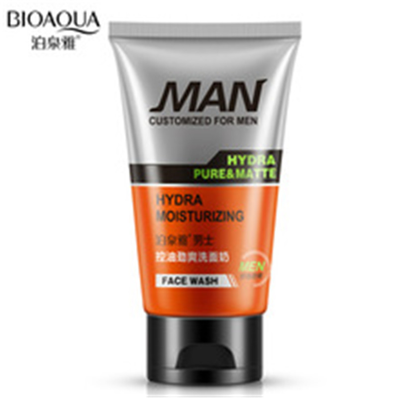 Man oil-control face cleaner pore cleaner face wash men facial cleanser Acne blackhead m ...