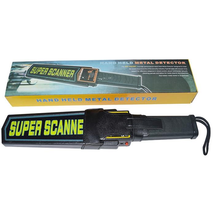 Wholesale 25pcs/lot Handheld Metal Detector MD-3003B1 Body Scanner Super Scanner handheld portable metal detector handheld scanner handheld pro pointer for security screening