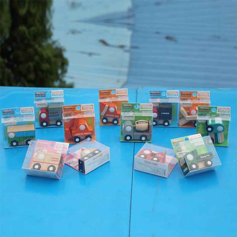 Multi-pattern car toys Creative Toys Wooden Car Model Baby Kid Educational Gift  truck tank ambulance police fire ccar bus shove