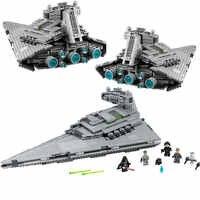 05062 Blocos de Construção de Star Wars Imperial Super Star Destroyer Tijolos Brinquedos Star Wars 75055