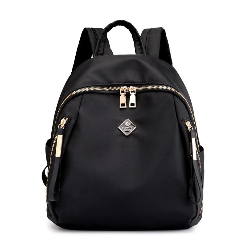 Fashion Female Colorful Flower Printing Backpack Youth Girls School Bag Multifunctional Shoulder Bag Practical Travel Backpack