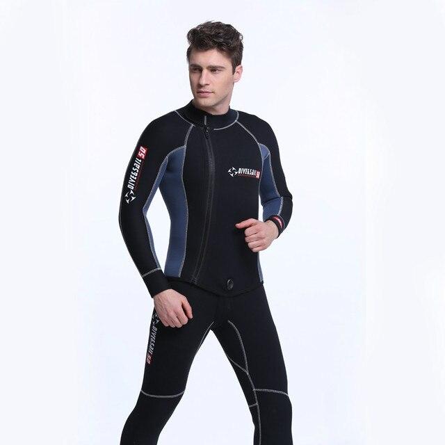 2a484be6ac Dive sail 5MM Neoprene One-piece Wetsuit Men Women Frog man Scuba Dive Diver  Wet Suit Winter Swim Surf Snorkeling Spearfishing