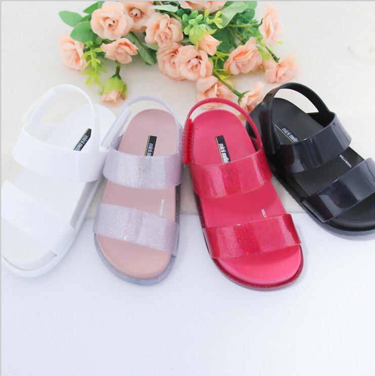 Mini Melissa Original Brand Girl Sandal Children Shoes Sandals for Girls Casual Sandals Wear-resistant Mini Melissa Beach Sandal