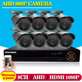 Security CCTV 2500TVL 1.3P AHD 960P Day Night IR HD Camera Kit High Definition Video Surveillance 8CH AHD DVR CCTV System