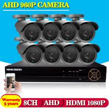 Security CCTV 2500TVL 1.3P AHD 960P Day Night IR HD Camera Kit High Definition Video Surveillance 8CH AHD DVR CCTV System