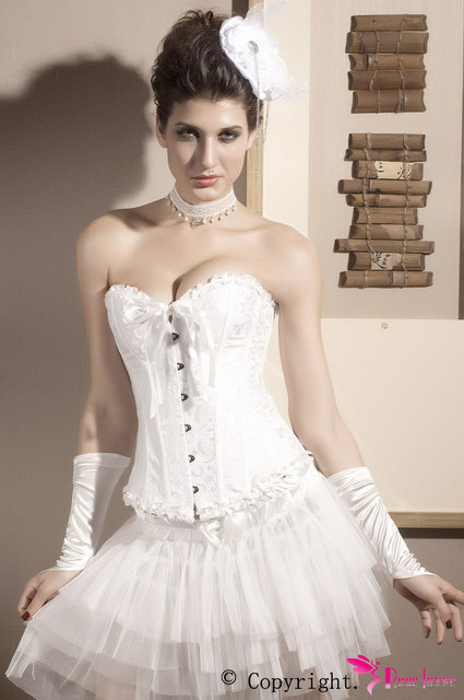 Satin Embroidered Corset Bustier