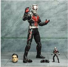 Marvel Hero Ant-Man Ant Man Scott Lang & Wasp Janet van Dyne Scale Boxed PVC Action Figure Collection Model(China)