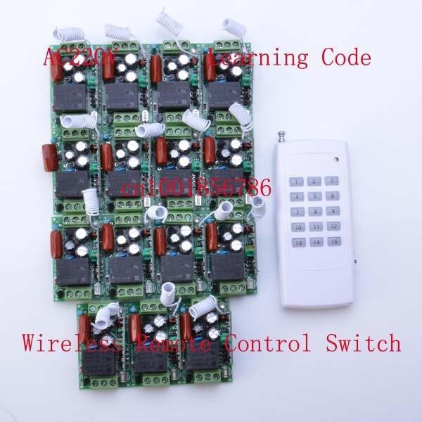220 В 15CH Rf Беспроводной Электрический гаражные ворота свет Беспроводной Дистанционное управление переключателя и передатчик/Радио получить…