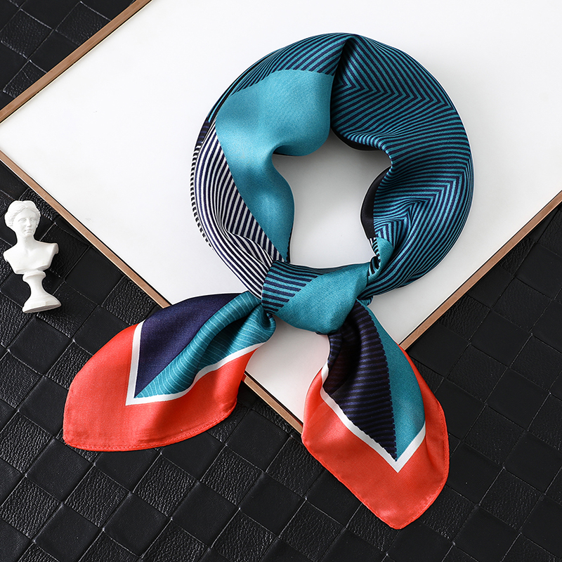 2020 Luxury Women Silk Scarf Square Foulard Hair Neck Scarfs Lady Office Head Band Fashion Print Female Scarves  Hand Kerchief