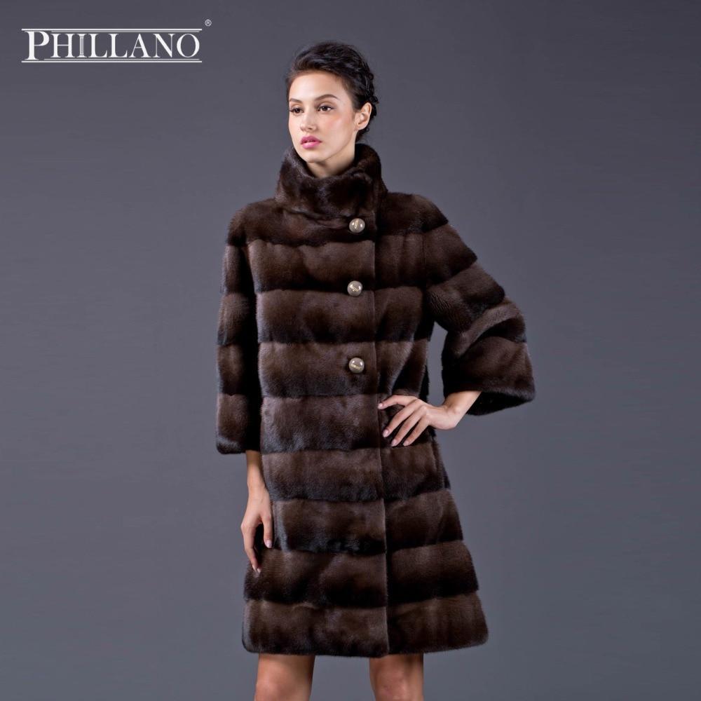 PHILLANO New Premium dámský oděv norek přírodní kožich kabát norek bunda krátký kabát norek Skandinávie Dánsko NAFA YG12024-95